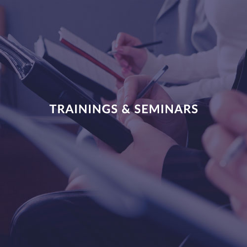 TRAININGS & SEMINARS